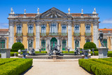 The ceremonial facade of Queluz National Palace, Portugal