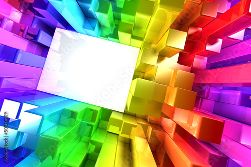 Rainbow of colorful blocks © Leigh Prather