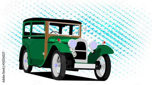 vintage car green