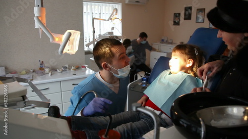 little girl in the dentist