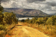 Gravel Road Leading to Dam Oil Painting