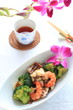 chinese cuisine, seafood and broccoli stir fried