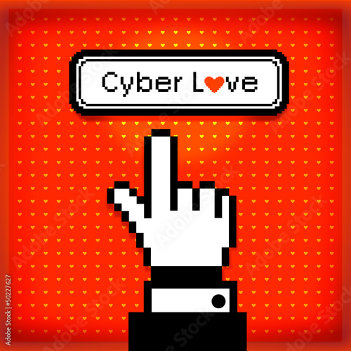 Cyber Love Button