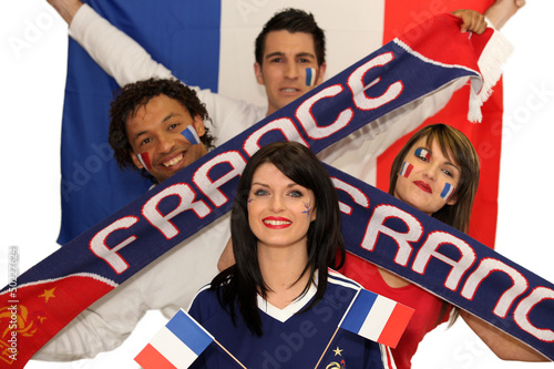 Two French couples ready to support their national team
