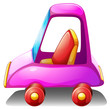 A pink toy car