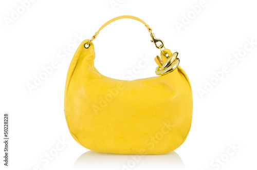 Elegant woman bag isolated on white