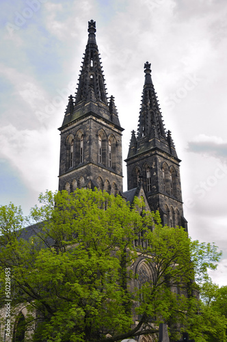Church of St Peter and St Paul in Vysehrad castle in Prague