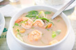 Coconut milk soup with Shrimp and Vetgetables