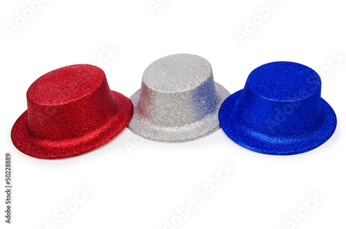 Party hats isolated on the white background