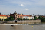 Vltava river and historic part of Prague