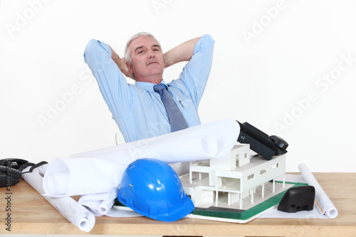 Architect sat at desk