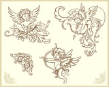 Cupids illustration set