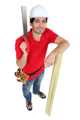 Carpenter with Saw