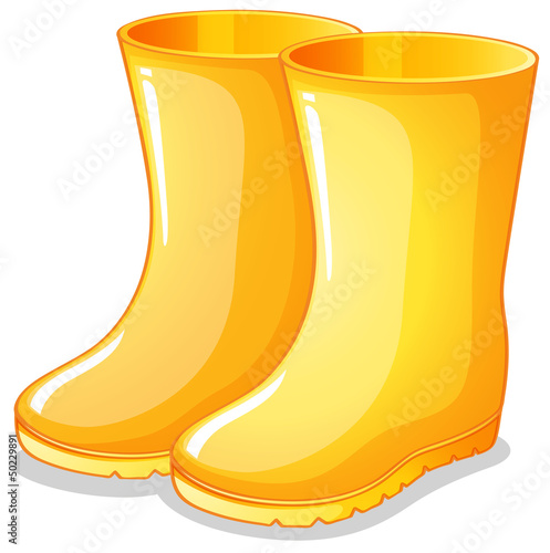 The yellow rubber boots