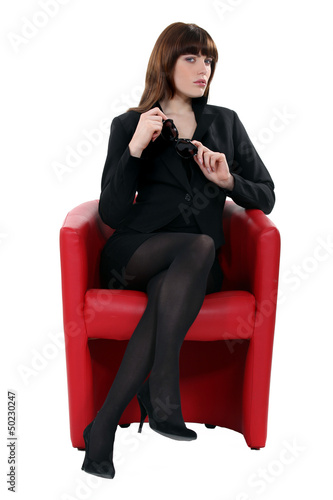 Portrait of a sophisticated woman