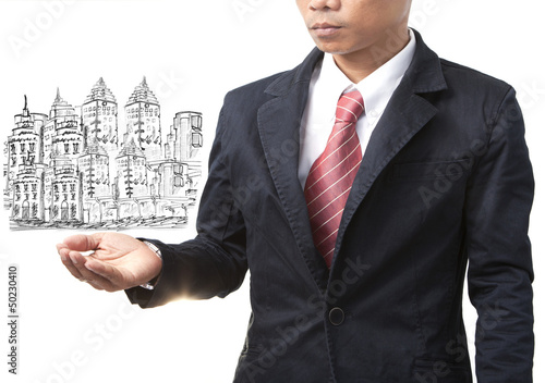 business man and land management