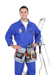Full-length portrait of a handyman with his tools