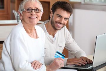 Help senior to buy online