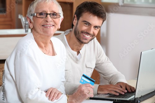 Help senior to buy online