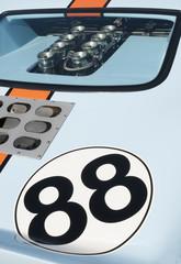 Vintage blue race car