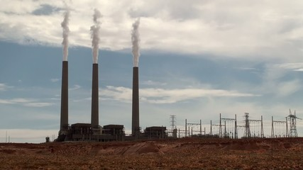 Navajo Generating Station. Page, Arizona, USA.