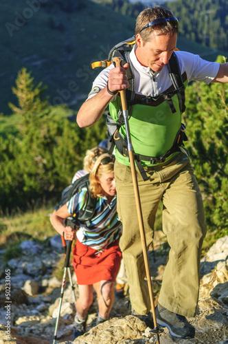 Aufstieg im Gebirge