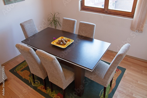 Dining room in modern home