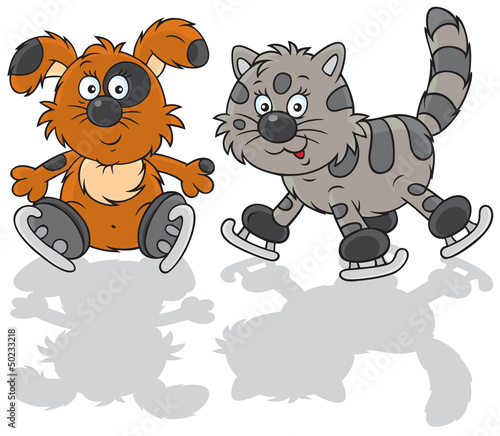Dog and cat skaters