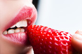 lips and strawberry - 50235257