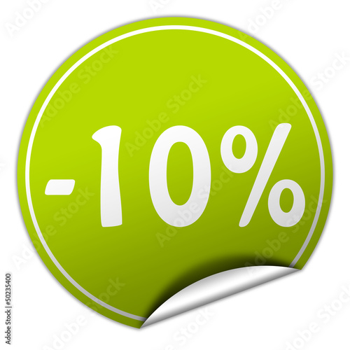 -10% discount sticker