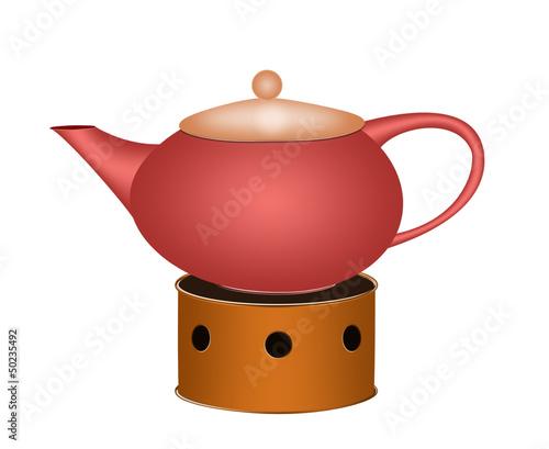 Leinwanddruck Bild Teekanne
