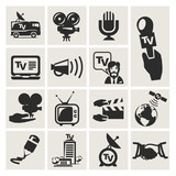 Reporter. Set of icons vector
