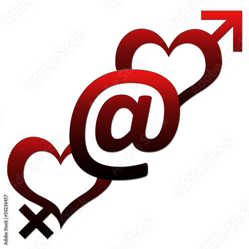 Two Hearts with At sign