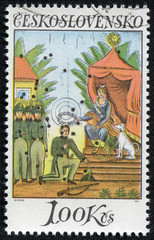 Stamp printed in Czechoslovakia shows Painting