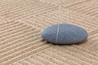 Pebble on raked sand squares