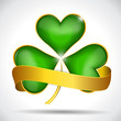 Clover leaf & gold ribbon
