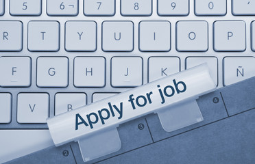 Apply for job keyboard and folder
