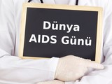 Blackboard : World AIDS Day : Turkish language
