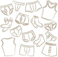 Male Underwear Icon Set