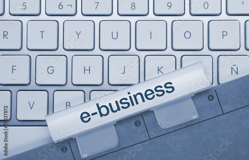 e-business keyboard and folder