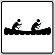 Schild weiß - Boot fahren