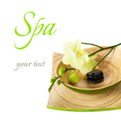 Spa orchid and zen stones