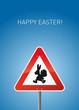 Schild Osterhase mit Happy Easter