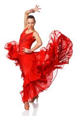 Elegance Latino dancer girl in action