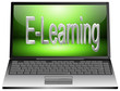 Laptop mit E-Learning