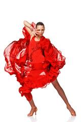 Beautiful Latino dancer in action