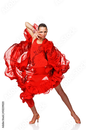 Beautiful Latino dancer in action