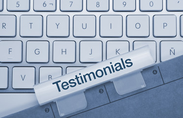 Testimonials keyboard and folder