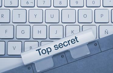 Top secret keyboard and folder