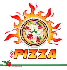 hot pizza flames project